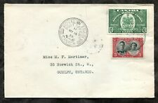 p303 - Canada ROYAL TRAIN PO 1939 on Special Delivery Cover to Guelph