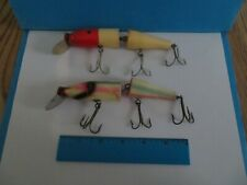 Lot of 2 Old Vintage Martin Large Jointed Pikie Fish Lures