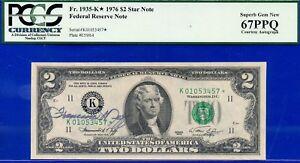 1976 $2 FRN (( Autographed STAR )) PCGS Superb-67PPQ ** Dallas ** # K01053457*.