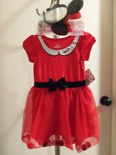 New listing Nwt- Disney Minnie Mouse Girl'S Dress & Matching Headband Size 3T