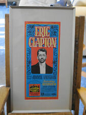 Eric Clapton Concert Poster 1994 Cleveland signed by Gary Grimshaw  - Beautiful