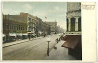 Broadway 5th Street View Los Angeles California CA Vintage 1900's Postcard