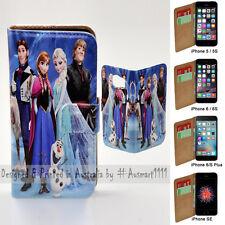 For Apple iPhone Series Case - Disney Frozen Print Flip Wallet Phone Case Cover