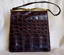 Vintage Retro Alligator Crocodile Simpsons Dept. Fassbender Rockabilly Purse Bag