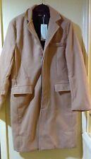 Mens Trench Coat Autumn Winter Long Jacket Overcoat Medium Beige