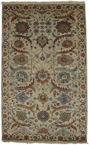 Rare Floral Design Osh Chobi Peshawar 3X5 Handmade Small Oriental Rug Carpet