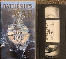 BATTLESHIPS AT WAR-VHS VIDEO/PEGASUS VIDEO.