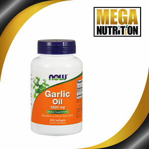 NOW Foods Garlic Oil 1500mg 250 Softgels Boost Immune System Herbal Supplement