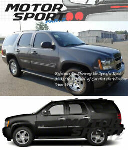 Out Channel Visors Wind Deflector Smoke Tinted For Chevrolet Tahoe 07-14 4pcs