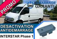 Clé de désactivation d'anti démarrage Nissan INTERSTAR Phase 1