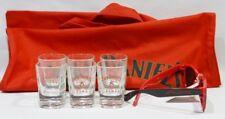 JACK DANIEL'S Whiskey FIRE 6 verres shot + lunettes Fire + 1 sac tissu NEUF