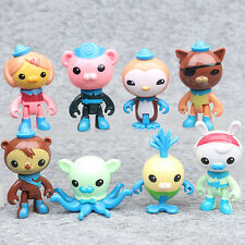 8PCS Octonauts 5-10cm Figures Toy Barnacles Peso Kwazii PVC Toys Children Gifts