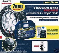 Catene Neve GOODYEAR 7mm Gr.120 Audi TT Coupè 2007 TT Roadster 2007 245/45R17