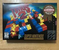 TETRIS 2 Custom Game Box + Box Protector Only For Super SNES