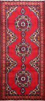 Geometric Ardebil Traditional Area Rug Hand-knotted Oriental Wool RED Carpet 4x7