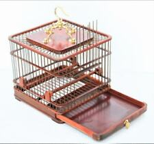 Exquisite Handmade Chinese Rose Wood Bird cage Birdcage