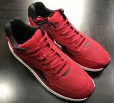 H&M Men Sneakers Red Size 10.5 Mesh Faux Suede NWT Shoes Lace Ups
