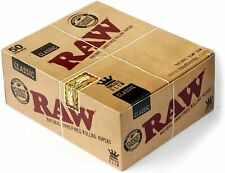 More details for 12 x raw classic natural unrefined rizla rolling papers slim 110mm king size new