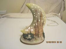 vintage Crescent Moon Unicorn Castle Magical Kingdom Baby Nursery Night Light