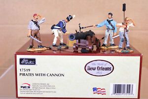 BRITAINS 17519 The BATTLE of NEW ORLEANS 1815 PIRATES with CANNON MINT BOXED nj