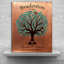 (LT-1385) Personalized 22nd Anniversary Personalized Traditional Wedding Tree...
