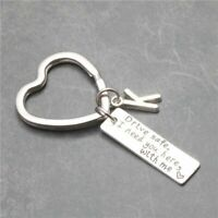Key Chain Drive Safe I Need You Here With Me Jewelry Engraved Bike Star Llaveros