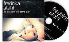 CD CARTONNE CARDSLEEVE FREDRIKA STAHL LES JEUX SONT FAITS GAME OVER 2T + 2 VIDEO