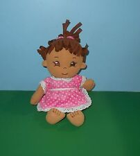 "Adora My 1st Adoring Heart 13"" Plush Baby Girl Doll Stuffed Plush w/ Sewn Eyes"
