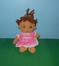 "Adora My 1st Adoring Heart 13"" Plush Baby Girl Doll Stuffed Plush w/ Sewn Eyes"