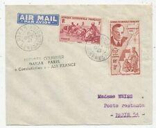 AVION AVIATION AIR FRANCE PREMIER COURRIER DAKAR-PARIS EN CONSTELLATION 1947
