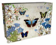 Punch Studio Flap Rectangle Flip Top Nesting Box Blue Butterflies 18761 Small