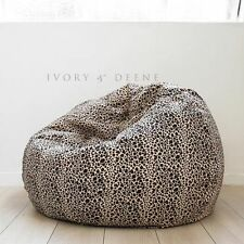 LARGE Leopard Print FUR BEANBAG Cloud Chair Soft Animal Safari Bean Bag TV Seat
