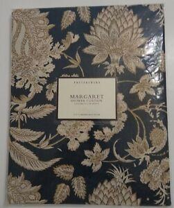 "Pottery Barn Shower Curtain Margaret BLUE Linen Blend 72""x72"" NEW SEALED"