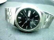 "Mens 36mm RICOH RIQUARTZ 5 jewels cal 580 Vintage Quartz Watch SS 8 1/2""wrist"