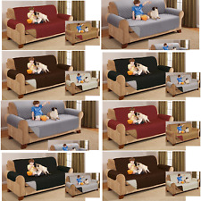 Reversible Quilted Sofa Couch Protector Throw Cover Waterproof 1 2 3 Seater