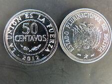 PIECE MONNAIE BOLIVIE BOLIVIA 50 CENTAVOS 2012 NEUVE NEW UNC