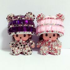 2016 New Car Decoration Cute Doll 2 Pieces Crystal Girls Interior Accessories