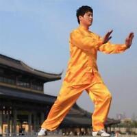 Chinese Wing Chun Kung Fu Suits Martial Clothes Tai Chi Taijiquan yellow