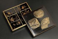 Antique Japanese Lacquer Maki-e Incense Box Edo Era