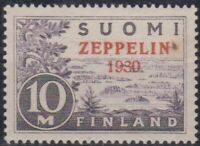 Finland Overprinted Zeppelin 1930, Set, MNH OG