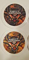"Harley Davidson USA Ceramic Decorative Coasters 4 pack 4"" diameter"