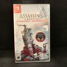 Assassin's Creed III (3) Remastered  (Nintendo Switch) BRAND NEW / Region Free
