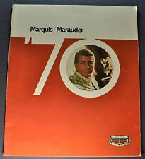 1970 Mercury Marquis Brougham Marauder X-100 Brochure Excellent Orig 70 Canadian
