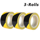 1.9in x 108FT Black Yellow Safety Warning Caution Conspicuity Tape Strip Sticker