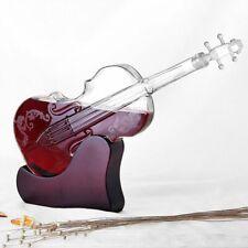 Whiskey Decanter Crystal Glass Dispenser Bottle Display Liquor Vodka Violin