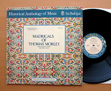 Madrigals Of Thomas Morley Deller Consort Vanguard Bach Guild HM 4SD NEAR MINT