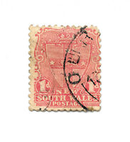 Rare Postage Stamp - New South Wales 1d Scott #98 Australia 1897 Stamped Seal