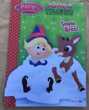Rudolph The Red-Nosed Reindeer Jumbo Coloring & Activity Book Snow Bros!