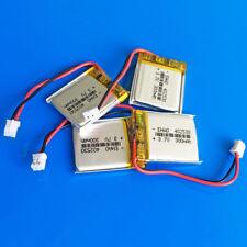 4 pcs 3.7V 300mAh 402530 Li po Battery Cells for MP3 Headset JST 2.0mm Connector