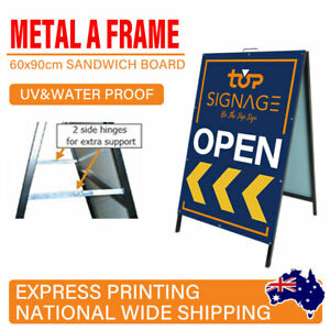 OZ A Frame Sign Metal Sandwich board with Double Side Printing Metal Face 60x90c